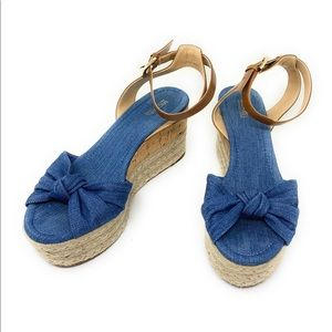 Michael Kors Shoes - MICHAEL KORS MAXWELL MID WEDGE WASHED DENIM size 8